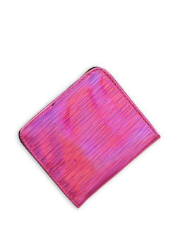 Mini Textured Holographic Bifold Wallet - 1163067447142