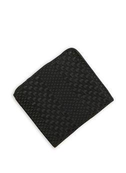 Mini Woven Faux Leather Bifold Wallet - 1163067447144