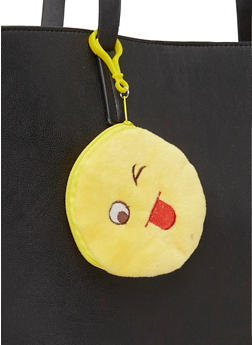 Silly Face Emoji Coin Purse Keychain - 1163067447920