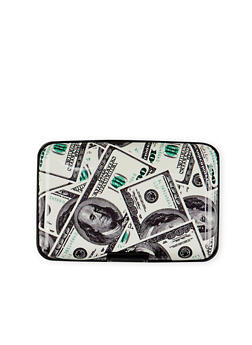 Card Holder Wallet with Money Print - 1163067448147