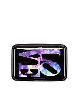 Card Holder Wallet with Galaxy Love Print - 1163067448148