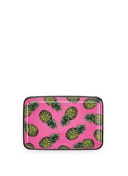 Pineapple Print Card Wallet - 1163067448181