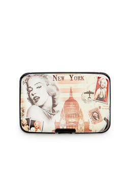 Card Holder Wallet with Marilyn Monroe Graphic - 1163067449020