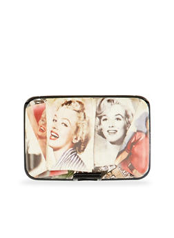Card Holder Wallet with Marilyn Monroe Graphic - 1163067449021