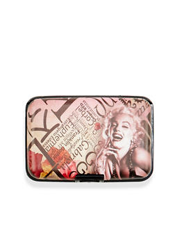 Card Holder Wallet with Marilyn Monroe Print - 1163067449022
