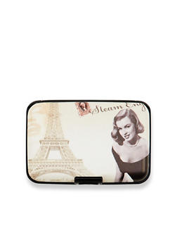 Card Holder Wallet with Marilyn Monroe Graphic - 1163067449023