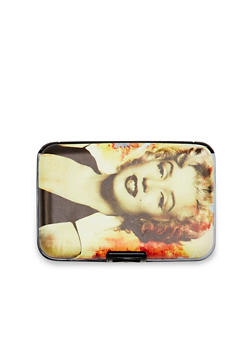 Card Holder Wallet with Marilyn Monroe Graphic - 1163067449025