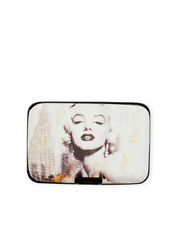 Card Holder Wallet with Marilyn Monroe Graphic - 1163067449027
