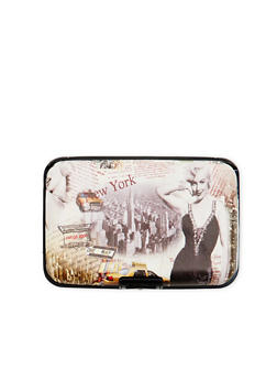 Card Holder Wallet with Marilyn Monroe Graphic - 1163067449029