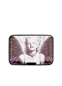 Card Holder Wallet with Marilyn Monroe Graphic - 1163067449032