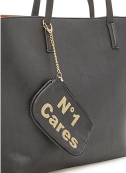 Keychain Pouch with No1 Cares Print - 1163070571600