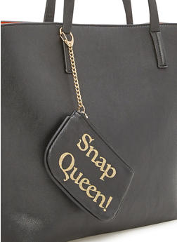 Keychain Pouch with Snap Queen Print - 1163070571700