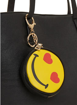 Love Smiley Face Emoji Coin Purse Keychain - 1163073401019