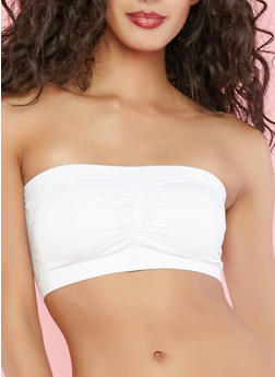 Stretch Bandeau Top - WHITE - 1172035161025