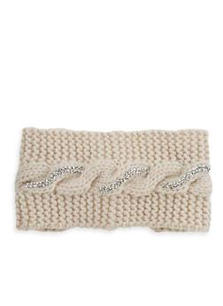 Rhinestone Cross Stitch Headband - 1183042740073