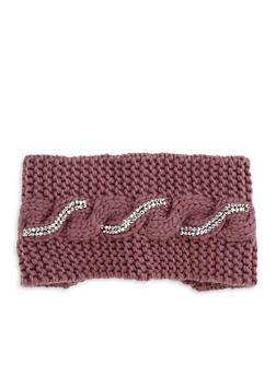 Rhinestone Cross Stitch Headband - MAUVE - 1183042740073