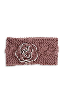 Rose Knit Headband - MAUVE - 1183042740178