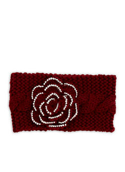 Rose Knit Headband - 1183042740178