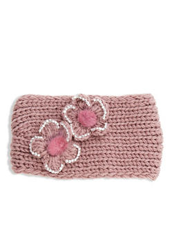 Flower Knitted Headband - MAUVE - 1183042742929
