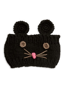 Mouse Knit Headband - BLACK - 1183042747777