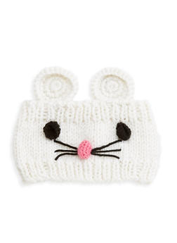 Mouse Knit Headband - WHITE - 1183042747777
