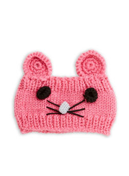 Mouse Knit Headband - PINK - 1183042747777
