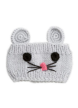 Mouse Knit Headband - GREY - 1183042747777