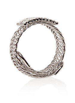 Looped Wrap Bracelet with Crystal Center - 1193003201330