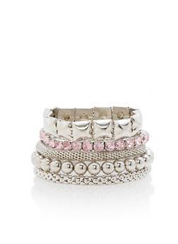 Multi Textured Stretch Bracelets - 1193003206923