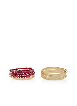 Assorted Bangles and Stretch Bracelets Set - 1193018431954