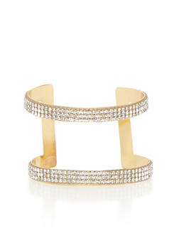 Crystal Cage Cuff Bracelet - 1193018433563
