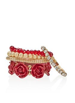 Set of 5 Assorted Stretch Bracelets - 1193035153030