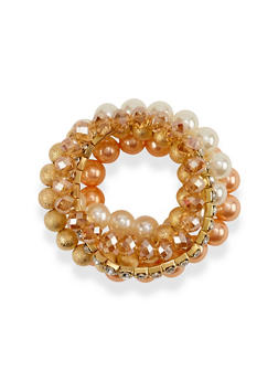 Set of 5 Stretch Bracelets - 1193035154539