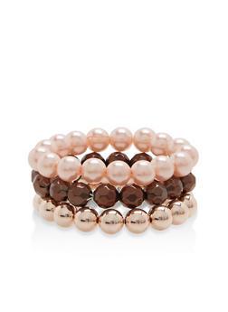 Trio of Beaded Stretch Bracelets - 1193035154845