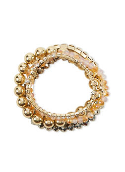 Set of 5 Assorted Elastic Bracelets - 1193057698981