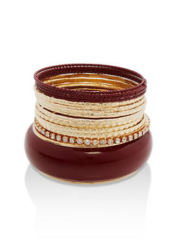 Solid Colored Rhinestone Bangles - 1193062920664