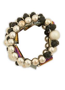 Beaded Metallic Bracelets - 1193062921139