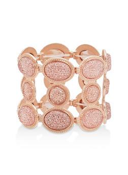 Paved Rhinestone Stretch Bracelet - 1193062923181