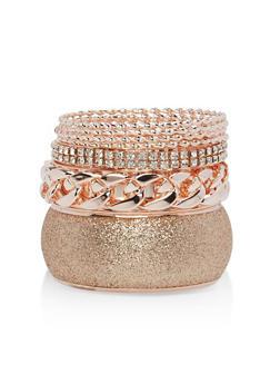 Plus Size Glitter Chain Rhinestone Bracelets - 1193062925526