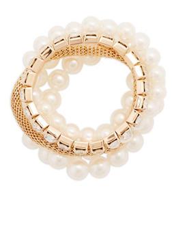 Set of 5 Assorted Stretch Bracelets - 1193071433023