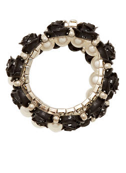 Set of 4 Stretch Bracelets with Crystal Accents - 1193072691939