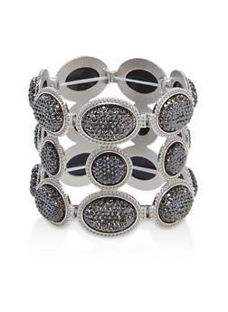 Rhinestone Stretch Bracelet - 1193072692605