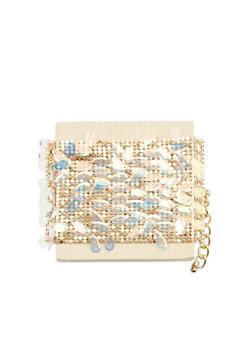 Metallic Mesh Sequin Bracelet - 1193074171725