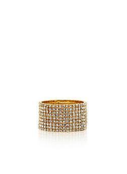 9 Row Stretch Rhinestone Bracelet - 1194003200841