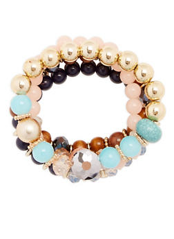 Multi Beaded Stretch Bracelets - 1194003201058