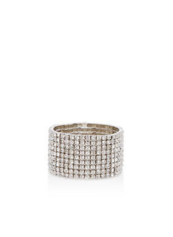 Multi Rhinestone Stretch Bracelet - 1194003201480