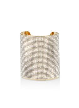 Wide Rhinestone Cuff Bracelet - 1194003201634