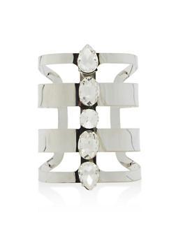 Jewel Encrusted Cuff Bracelet - 1194018431118