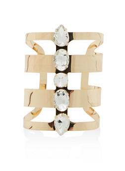 Jewel Encrusted Cuff Bracelet - 1194018431118