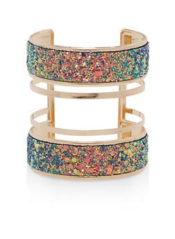 Metallic Glitter Cuff Bracelet - 1194018434138